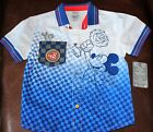 DISNEY STORE Mickey Mouse and the Roadster Racers s/s BUTTON DOWN RACE SHIRT
