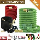 Deluxe 25 50 75 100 150 Ft Expandable Flexible Garden Water Hose w/ Spray Nozzle