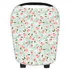 Multi-Use Stretchy Floral Newborn Nursing Cover Baby Car Seat Canopy Cart Cover