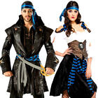Rum Runner Pirate Adults Fancy Dress High Seas Buccaneer Voyager Costume Outfits