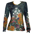 GUSTAV KLIMT Flower Garden LS TOP T-SHIRT NOUVEAU FINE ART PRINT PAINTING NEW