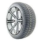 """14"""" RHOX SS White Black Wheel and Low Profile Golf Cart Tire Combo Options"""