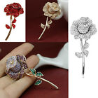 Luxury Rhinestone Bouquet Crystal Rose Brooches Pins For Mom Gifts Jewelry 2017