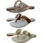 Michael Kors Womens Hamilton Flat Charm Thong Slip-On Casual Fashion Sandals