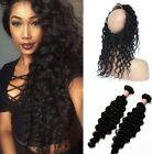 Deep wave 360 Lace Frontal Closure With 2 Bundles/200g Weave Virgin hair