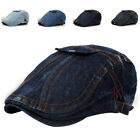 Adult Wash Denim Newsboy Hats Women and Men Casual Jean Bere