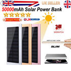 50000mAh Solar External Mobile Battery Charger Power Bank For All Smart phone f