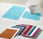 New Style Cali 2 Piece Bath Mat & Pedestal Set Non Slip Bathroom Set