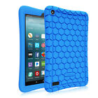 For All-New Amazon Fire 7 2017 /2019 Tablet Silicone Case Cover Kids Friendly