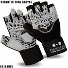 DBXGear Strength Weightlifting Leather Fitness Gloves Bodybuilding