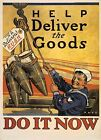 Retro Metal Plaque :Help Deliver the GOODS Sign/ad