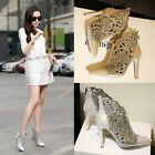 Sexy Europe Women Rhinestone pointy toe Banquet stilettos high heels shoes boots