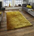 Think Rugs Sable Yellow Shaggy Rugs