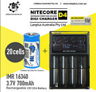 Netgear Arlo Camera Rechargeable Battery CR123a & Charger Kit by Nitecore D4 cha