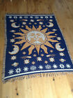 traditional modern THROWS 100% cotton rugs mats, SUN & MOON, FREE P&P