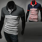 New Fashion Mens Premier Luxury Polo Pique Collar T-Shirts Short Sleeve Top E334