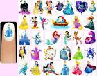 60x DISNEY WATERCOLOUR Nail Art Decals Free Gems Princesses Silhouette Princess