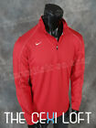 Mens Authentic NIKE Brand DRI-FIT Pullover Jacket RED with Embroidered Swoosh