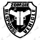 ZOMBIE RESPONSE VEHICLE sticker autocollant deco voiture tuning humour evil dead