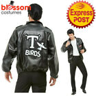 CA274 Mens T-Birds Gang Jacket 1950 50s Black Grease Danny T bird Tbird Costume