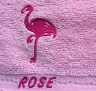 Flamingo design,flannel/cloth.Personalised with ONE name, £3.75 inc P&P