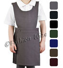 Pleated Bib Pinafore Dress Ages 2-18 Girls School Uniform Bib Black Grey Navy