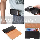 7 Size Leather Horizontal Belt Clip Holster Pouch Case For iPhone/Samsung/HTC/LG