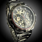 Men's Hollow Automatic Mechanical Watch Stainless Steel Waterproof Wrist Watches