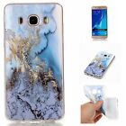Luxury Marble Pattern Rubber Soft Case Protective Cover Skin for Samsung Phones