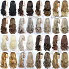 blonde to strawberry blonde hair - 3/4 Wig Hairpiece Long Wavy Natural Hair Fall with Headband Women Half Wig Fall