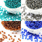 6/0  SILVER LINED GLASS SEED BEADS -  VARIOUS COLOURS -  A042