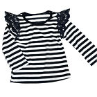 Toddler Baby Kid Girl Lace T-shirt Top Long Sleeve Casual Cotton Clothes Blouse
