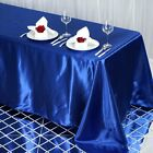 "90x132"" Rectangle Satin Tablecloth For Wedding Party Banquet Events Decoration"