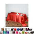 """90x132"""" Rectangle Satin Tablecloth For Wedding Party Banquet Events Decoration"""