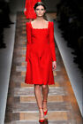 Runway Style Design Luxe Hot Scarlet Ladylike Stunning Evening Party Dress 9675