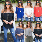 Kyпить Womens Off Shoulder Loose Shirt Fashion Ladies Summer Casual Blouse Top Shirt на еВаy.соm