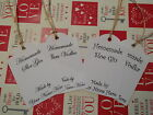 Personalised Plum Vodka Sloe Gin Strung White Tags Labels Homemade by....