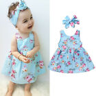Summer Kids Baby Girls Princess Party Dress Sleeveless Tutu Flower Dresses 0-4T