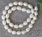 SP0020  Natural 8-9MM White Rice Freshwater pearl loose Beads 15''