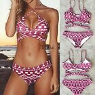 Women Bikini Set Push-up Padded Bra Swimsuit Swimwear Triangle Bathing Suit TXWD