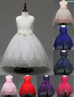 Deluxe Flower Girl Kid Princess Wedding Party Prom Pageant Sequins Gown Dress