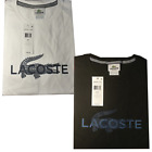 Lacoste Authentic Mens Textured Striped Croc Logo T-Shirt, TH9304-51, NWT