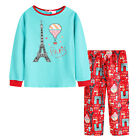 Pyjamas Girls Winter Cotton Top Flannel Pants 2pc Pjs (Sz 8-14) Set Jade Green P