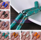 Lot Bulk 10pcs 20X10mm Tube Lampwork Glass Loose Spacer Beads Jewelry Finding
