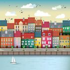 Seaside Town Printed Glass Splashback, Kitchen ~ Choose your size!!!