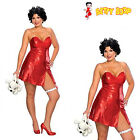 BETTY BOOP STARLET Ladies Costume Dress Secret Wishes & Curly Wig Plus S:16-20 $29.49 USD