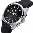 Luxury Leather Analog Stainless Steel Automatic Men Mechanical Wrist Watches New