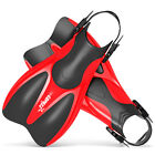 Copozz Scuba Diving Light Fins Double Sides Usable Snorkel Training Flipper Red