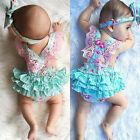 Baby - Newborn Infant Kids Baby Girl Floral Clothes Jumpsuit Romper Sunsuit Outfits Set