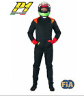 P1 Passion-3 FIA Approved *3 LAYER* Larger Rally Race Suit (Black) Small Med